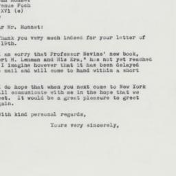 Letter: 1963 April 26