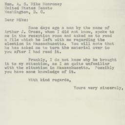 Letter : 1954 November 15