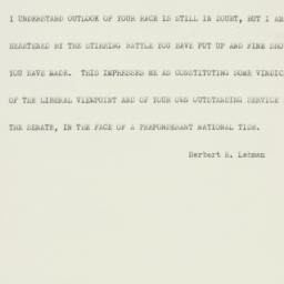 Telegram: 1952 November 5