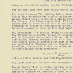 Letter : 1922 May 1