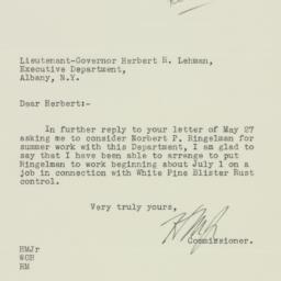 Letter : 1932 June 14