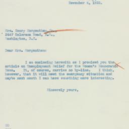 Letter : 1933 November 4
