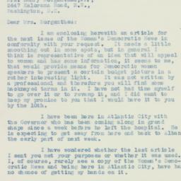 Letter : 1933 December 8