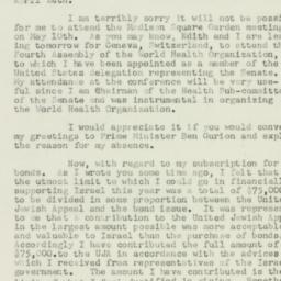 Letter : 1951 April 30