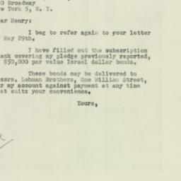 Letter : 1951 June 12