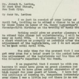 Letter : 1931 April 6