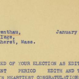 Telegram : 1940 January 23