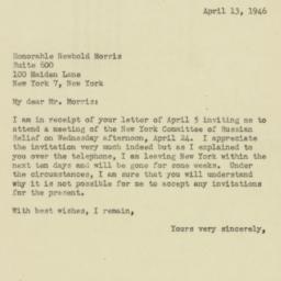 Letter : 1946 April 13