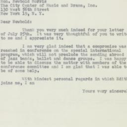 Letter : 1956 July 31