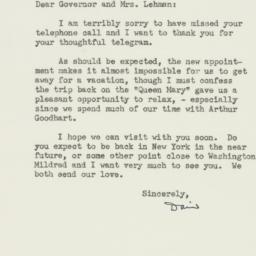 Letter : 1947 August 19