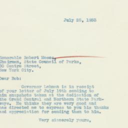 Letter : 1933 July 25