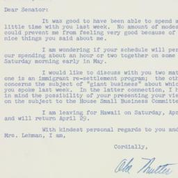 Letter : 1957 April 12