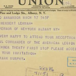 Telegram : 1937 September 17