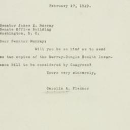 Letter: 1949 February 17