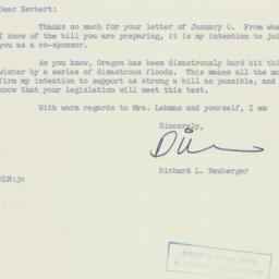 Letter: 1956 January 9