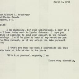 Letter: 1956 March 6
