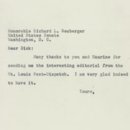 Letter: 1956 July 13