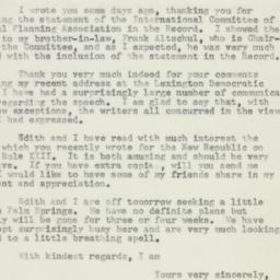 Letter: 1957 January 29
