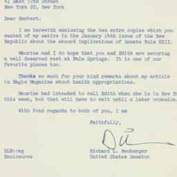 Letter: 1957 February 11