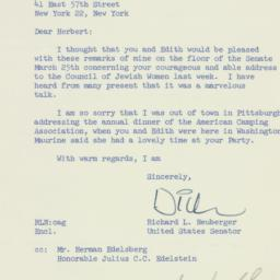 Letter: 1957 March 26