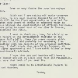 Letter: 1957 May 31