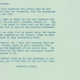 Letter: 1957 October 2