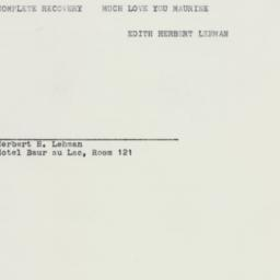 Telegram: 1958 September 4
