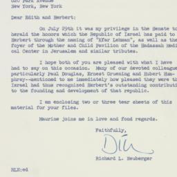 Letter: 1959 July 30