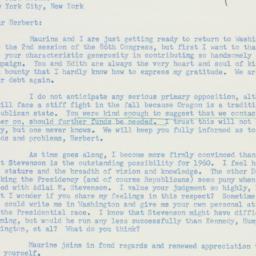 Letter: 1960 January 8