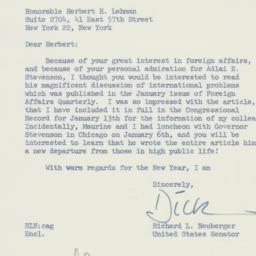 Letter: 1960 January 14