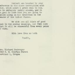 Letter: 1960 May 2