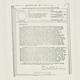 Letter : 1943 December 20