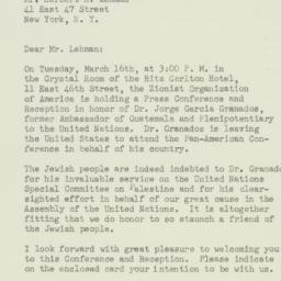 Letter : 1948 March 11