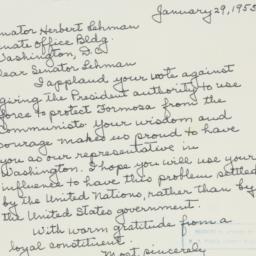 Letter : 1955 January 29