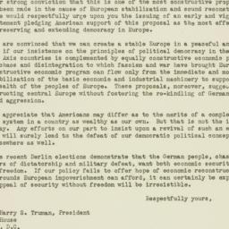 Letter: 1946 November 4