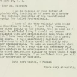 Letter: 1950 September 14