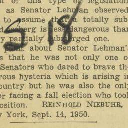 Clipping : 1950 September 12
