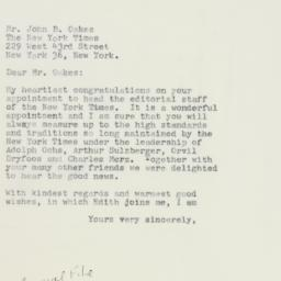 Letter : 1961 April 28