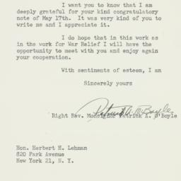 Letter : 1947 May 19