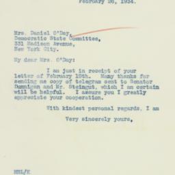 Letter : 1934 February 26
