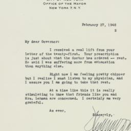 Letter : 1948 February 27