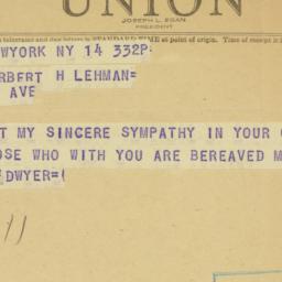 Telegram : 1948 July 14