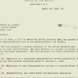 Letter : 1950 April 26