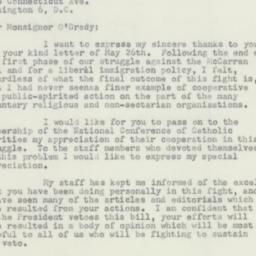 Letter : 1952 June 16