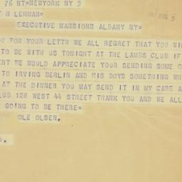 Telegram: 1942 August 5