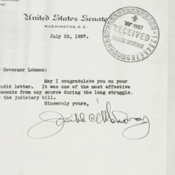 Letter : 1937 July 22