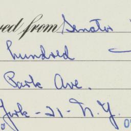 Ephemera : 1954 October 25