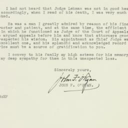 Letter : 1945 October 10