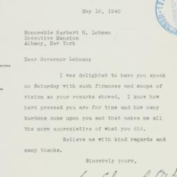 Letter : 1940 May 15
