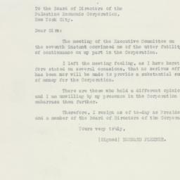 Letter : 1925 November 9